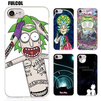 Fulcol Rick ve Morty Sezon 2 Şeffaf Desenli Hard case Kapak için iphone 5s SE 6 s artı 7 s artı 8 on X