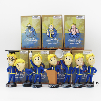 Fallout Vault Boy Bobble Head PVC Action Figure koleksiyon Model oyuncak 7 stilleri KT1777