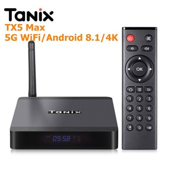 Tanix TX5 Max TV Kutusu Android 8.1 Amlogic S905X2 4 GB LPDDR4 + 32 GB EMMC 2.4 GHz + 5 GHz WiFi BT4.2 Destek 4 K H.265 Set Top Box