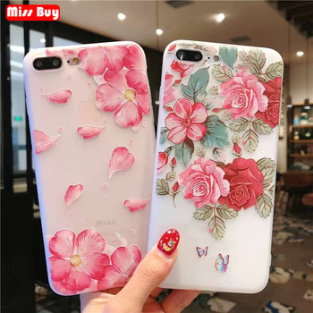 Missbuy Flower Silicon Phone Case For iphone 6S Case Fashion Floral Slim Soft TPU Cover For iphone 6 6S 7 8 Plus X Coque Capa